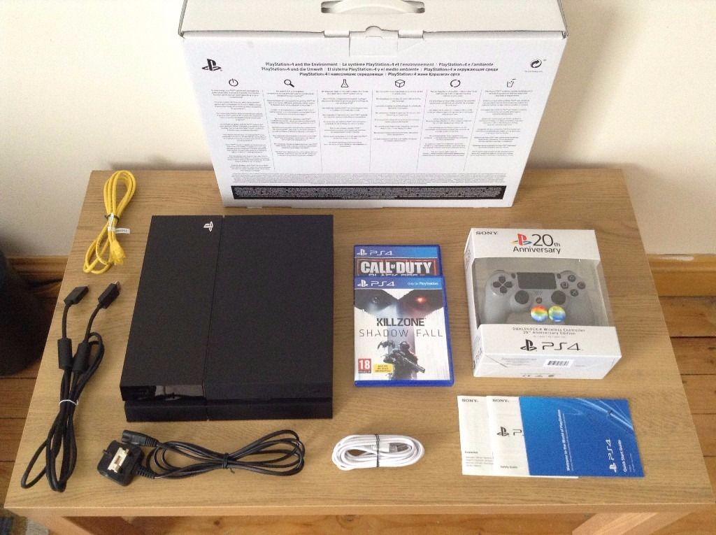 (ONO) PS4 + Two Games + Anniversary Controller + Accessories + All Cables + Box (Loud Fan)