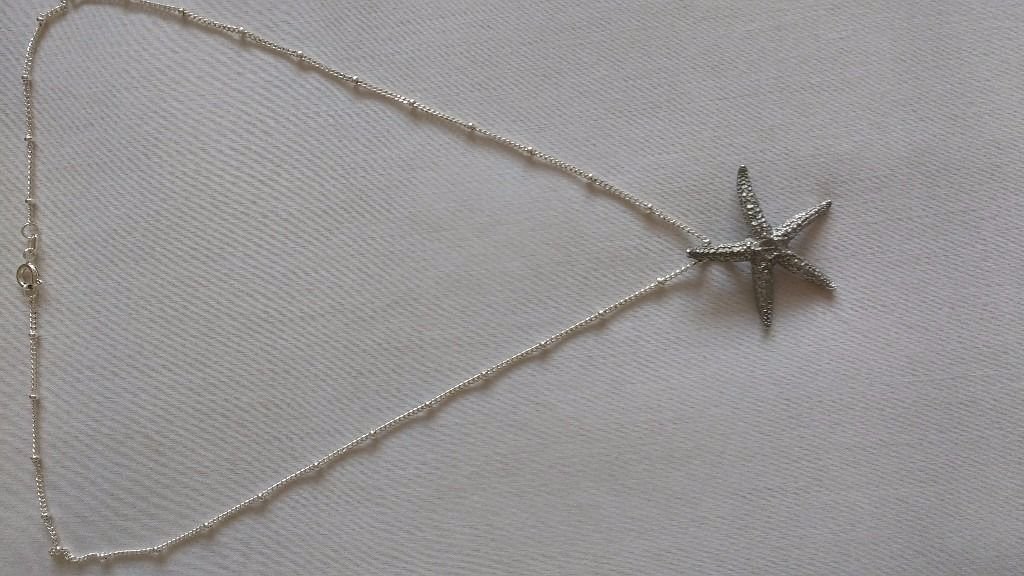 Silver chain and pewter starfish necklace