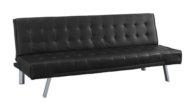Roma Sofa Bed black faux leather