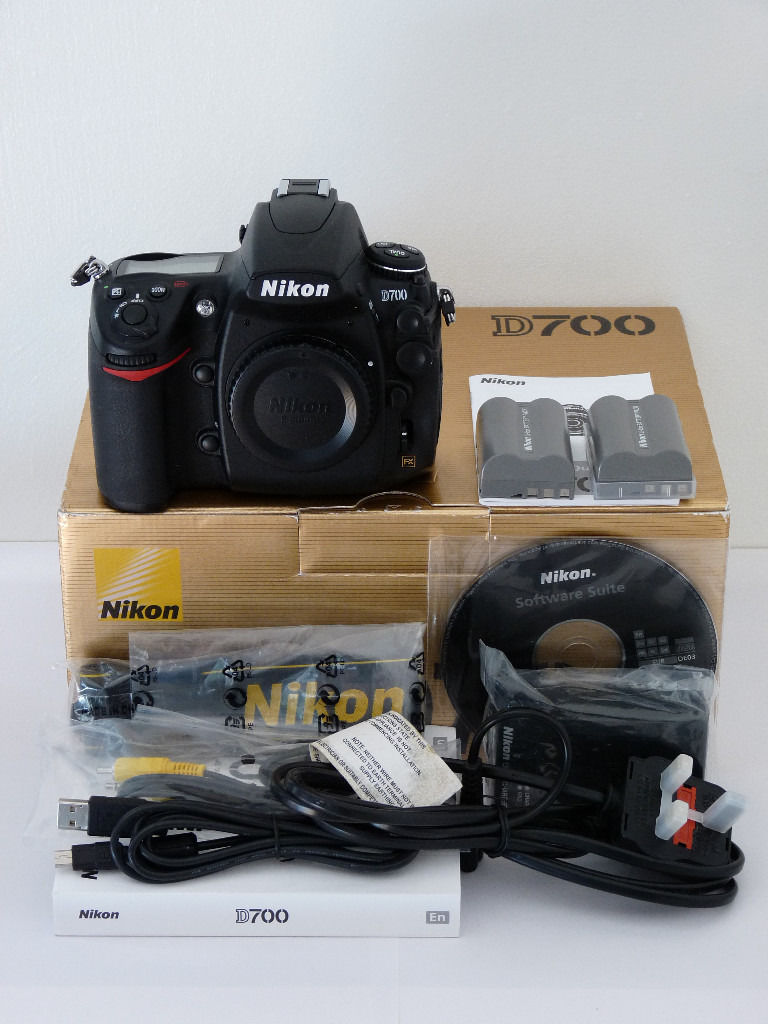 Nikon D700 DSLR, FX Full Frame professional camera. Mint condition, just 8245 shutter actuations.