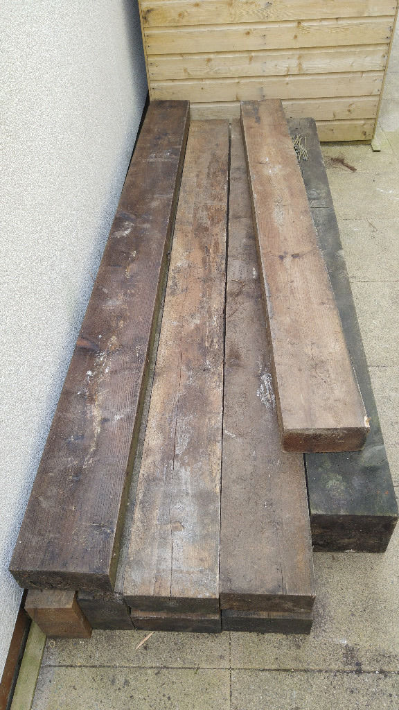 Raised bed sleepers (not new)