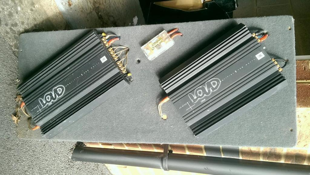 Car Sound System, 2 x Amplifiers & Subwoofer