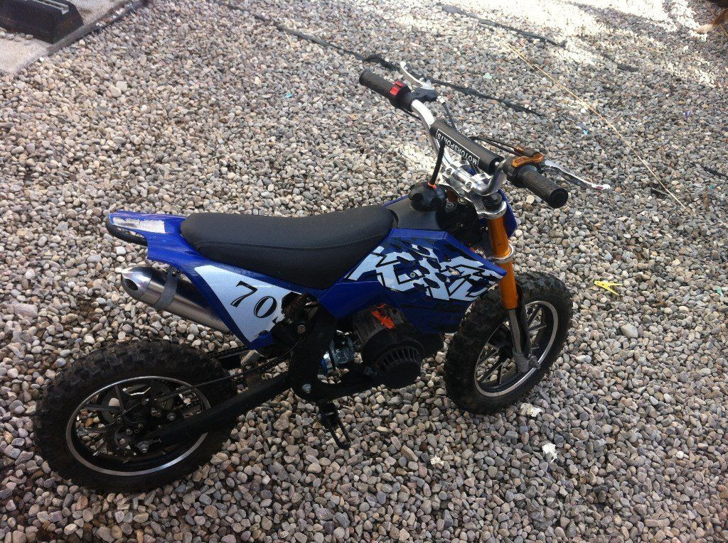 50cc kxd mini moto swap for quad