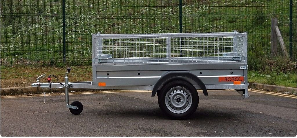 Car trailer caged-cage-mesh