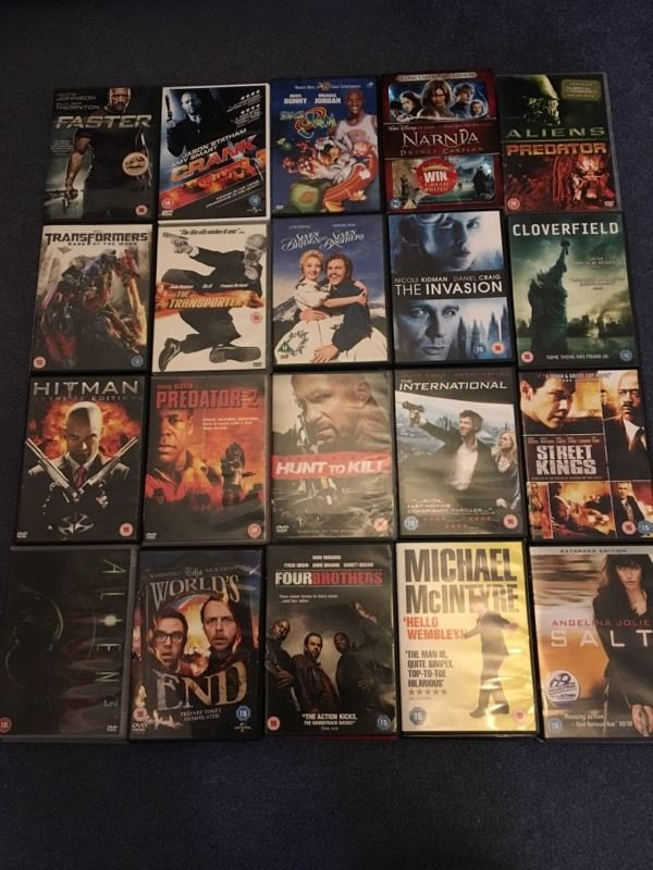 DVD Collection with over 75 titles