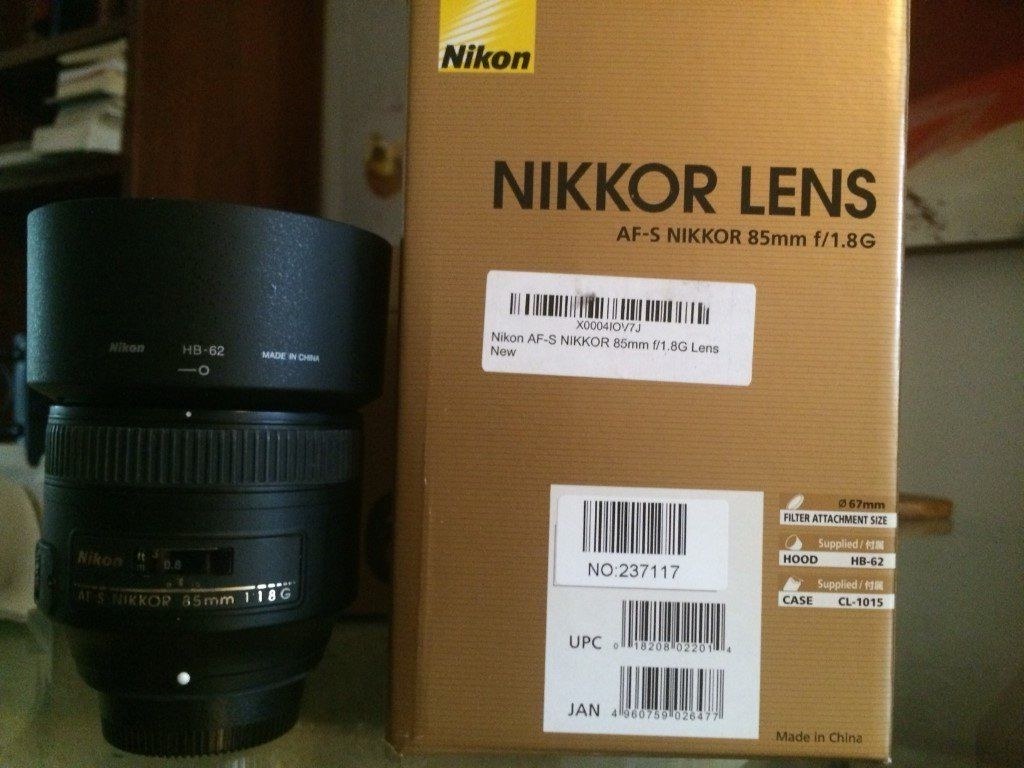 85mm Portrait Nikkor Lens AF-S f/1.8G - Great Condition
