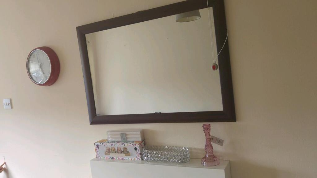 Large mirror brown frame- gone pending collection
