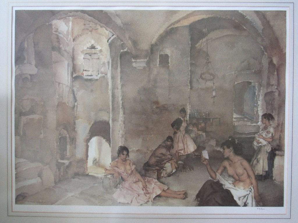 Symposium at Lucenay Limited Edition Print Sir William Russell Flint