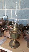 Large Brass Oil Lamp for sale