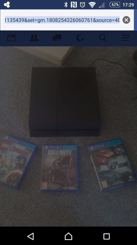 Ps4 playstation 4 with games
