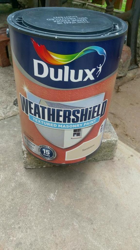 Dulux 5l weather shield sandstone