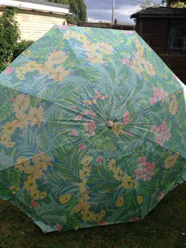 Beautiful summer garden parasol