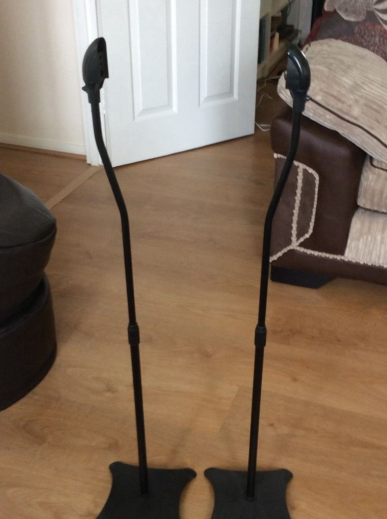 Pair of surround speaker stands