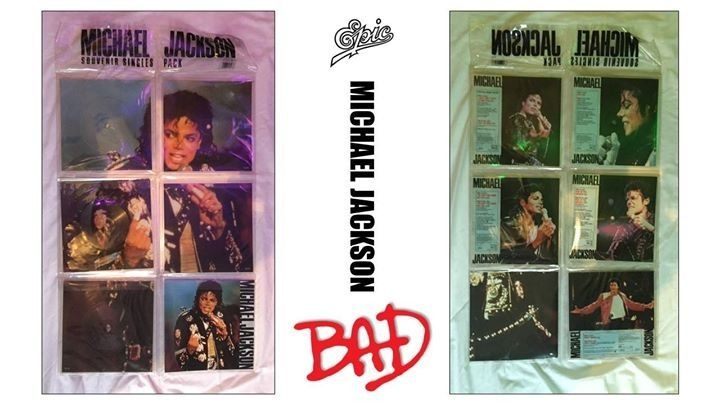 VERY RARE | MINT| MICHAEL JACKSON | BAD WORLD TOUR | SOUVENIR SINGLES PACK