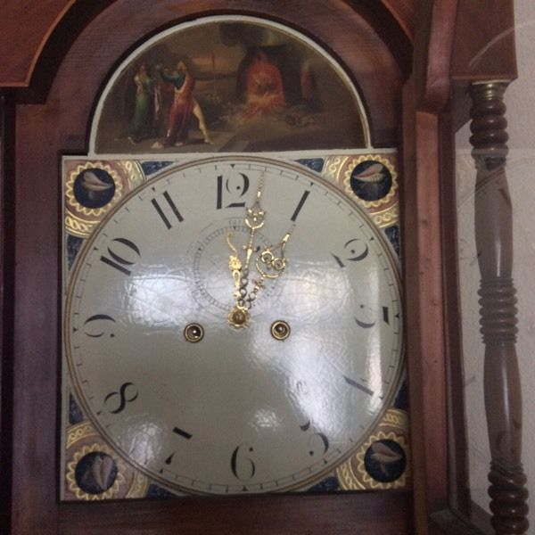 Antique grandfather clock. 8 day