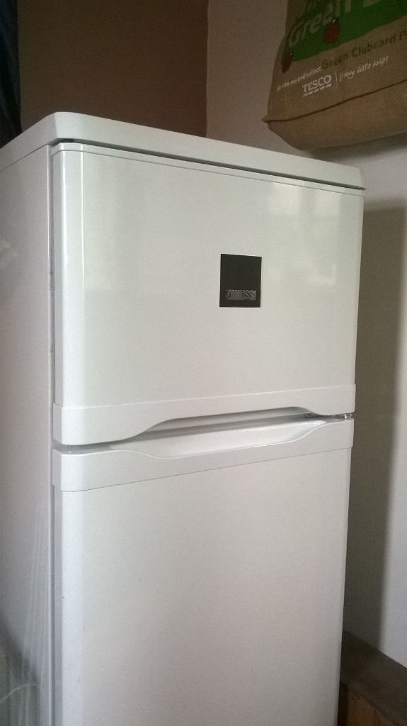 Medium-sized Zanussi Fridge Freezer excellent condition less than 2 yrs old