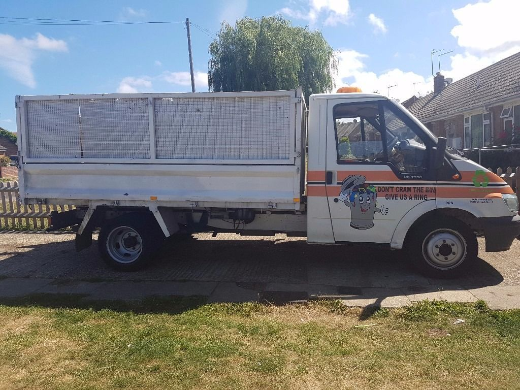 Ford Transit Tipper 53 plate with small crane on back