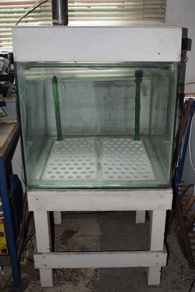 FISH TANK WITH STAND AND HOOD.