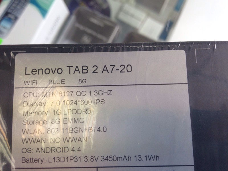 Brand New Lenovo Tab 2 Blue Wifi