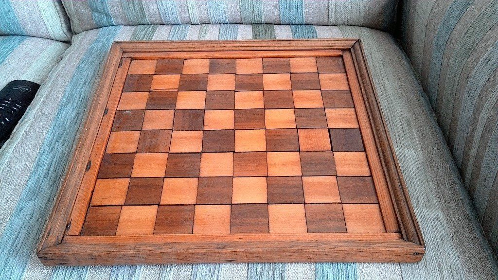Original Antique Large Inlaid Chess Board