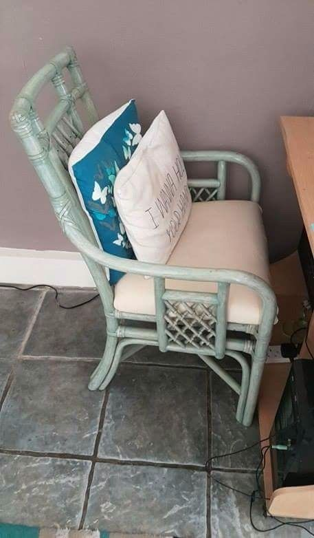 Pair of Green Patio Chairs