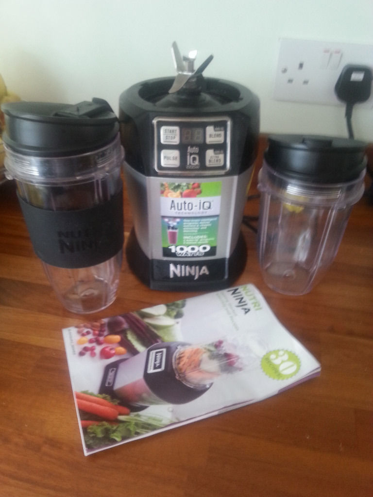 Nutri Ninja Auto IQ Silver 1000 watts Two Cups Recipe Book