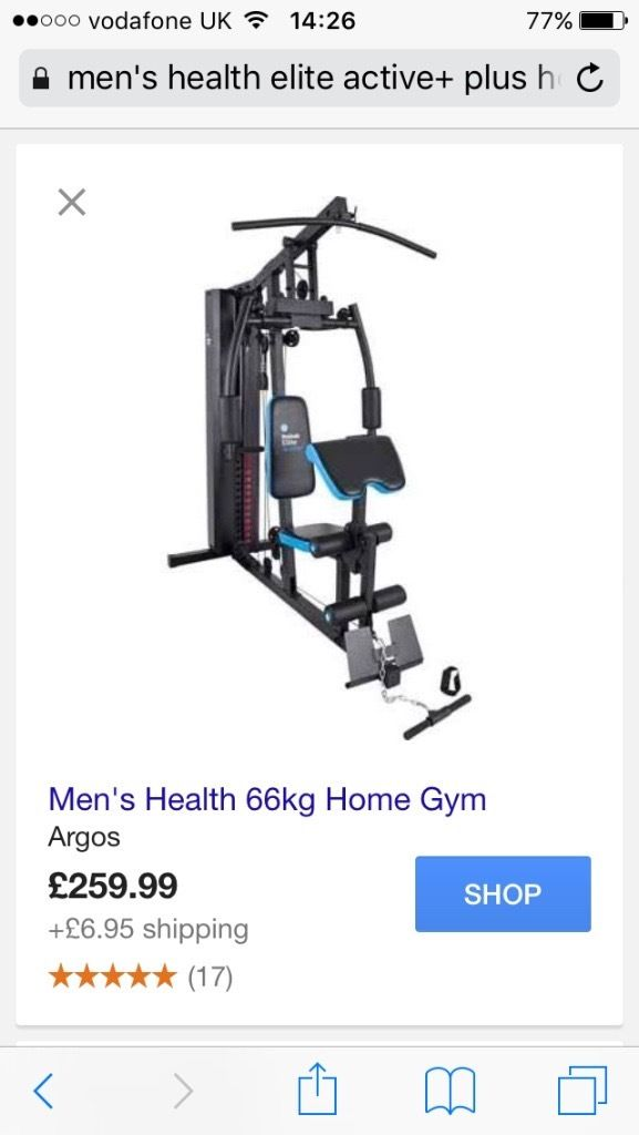 Men's health elite multi gym 66kg