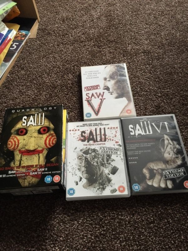 Saw 1-7 DVDs