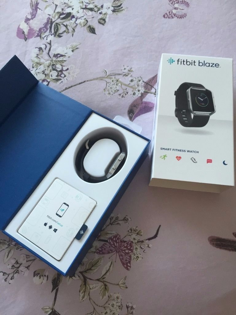 Fitbit Blaze, used but in excellent condition. in original packaging. black small strap