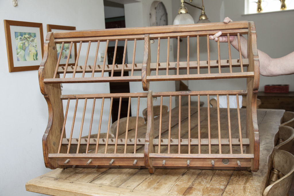 Large Old pine Penny Plate Rack