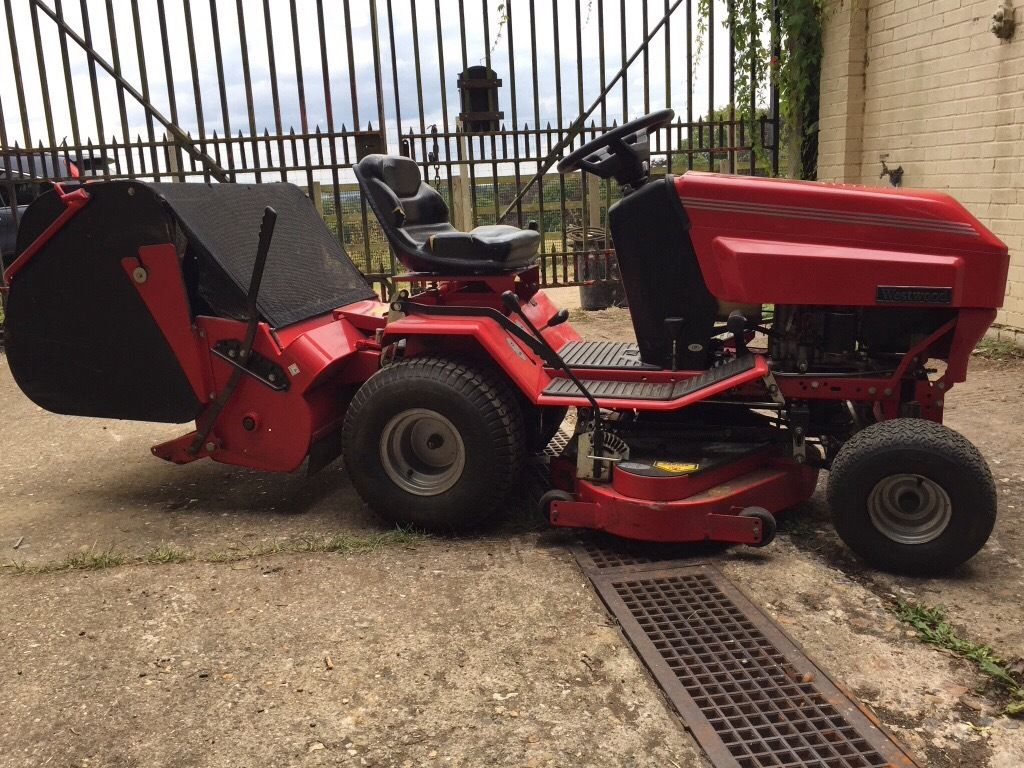 Westwood. Tractor with powered sweeper