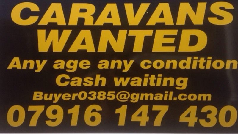 Caravans wanted for cash