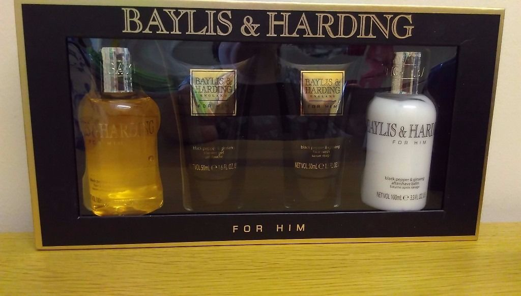 Hugo Boss Shower Gel + Autograph Body Wash + Aftershave Balm + Baylis & Harding Set