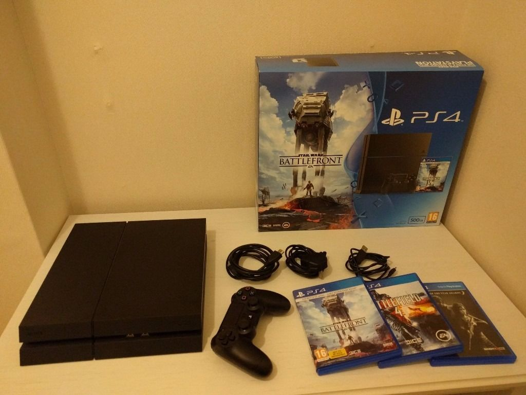 PS4 Console (Like new & boxed) + 3 Games