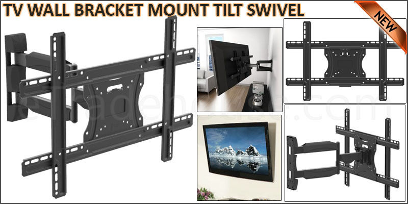 TV WALL BRACKET MOUNT TILT SWIVEL for 32 40 42 46 48 50 55+ PLASMA LCD LED 3D (3255-HT)