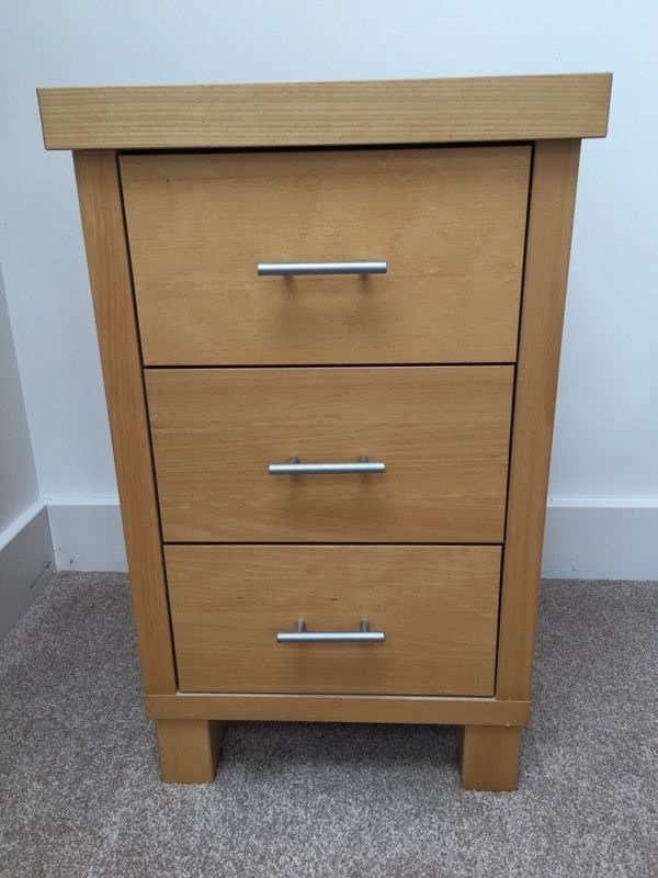 John Lewis solid wood bedside drawers