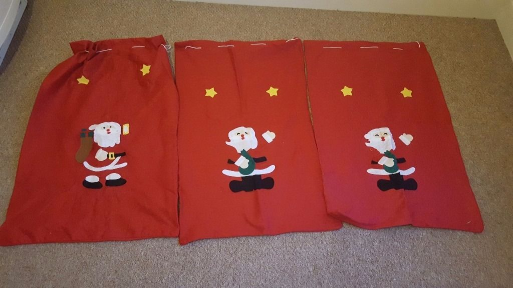3 x large santa sacks