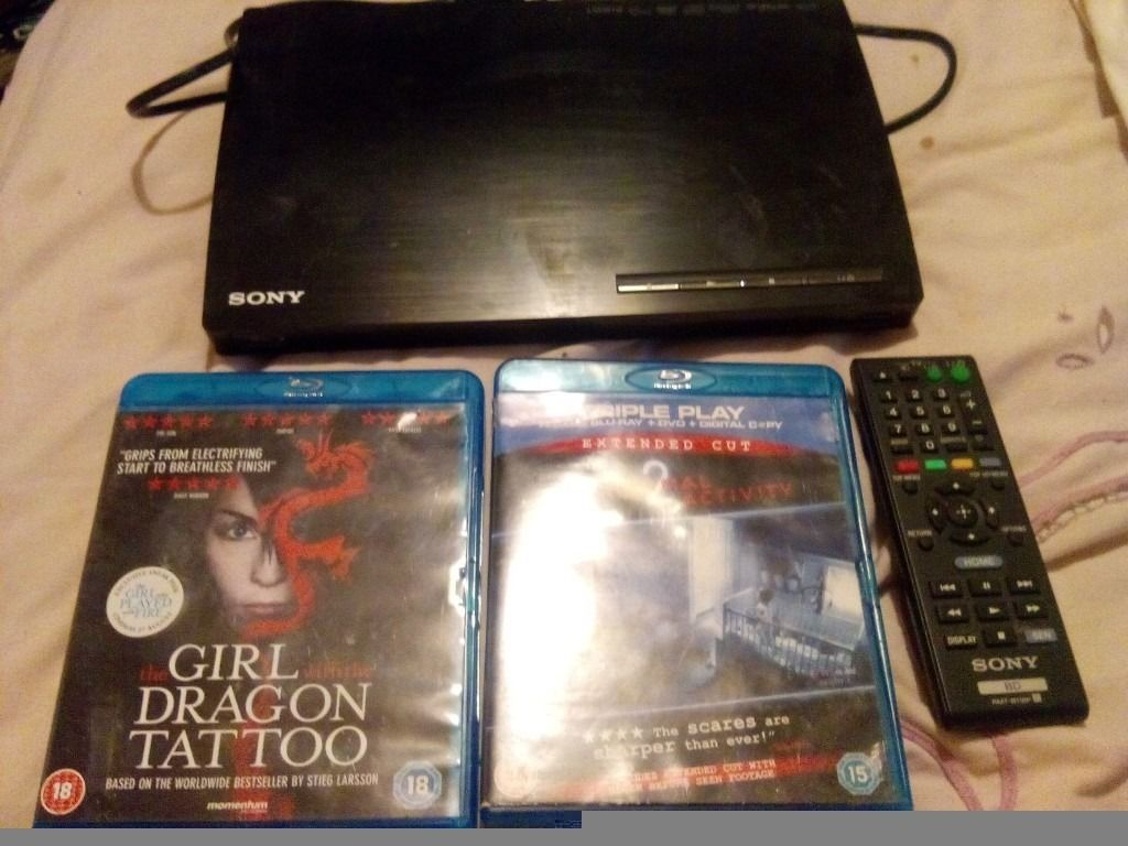 Blue ray player and two dvds