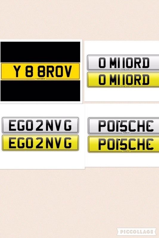 Private number plate - Y HATE BROV - O MY LORD - EGO 2 ENVY G - PORSCHE