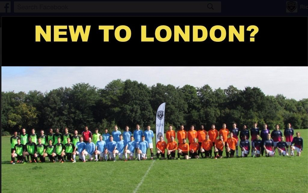 Play soccer in London, find football in London, play football in South London, Soccer team London