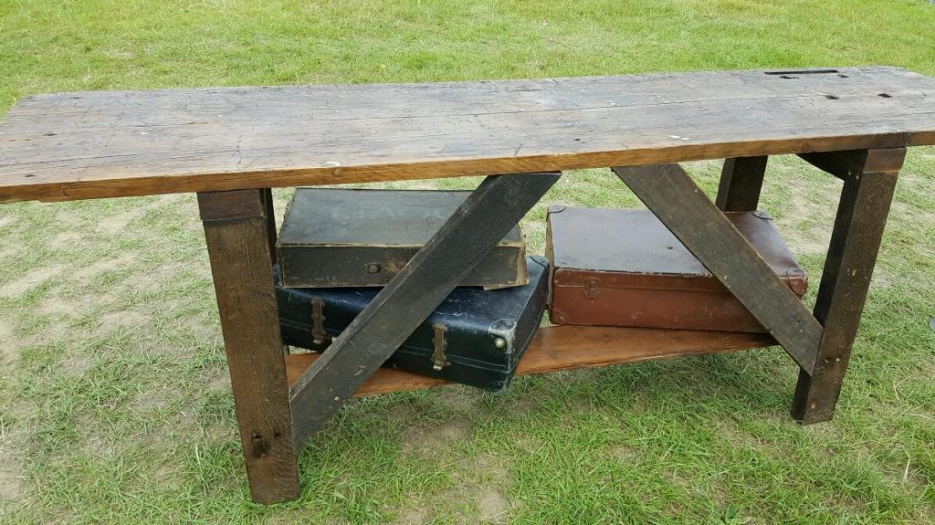 Rustic work bench