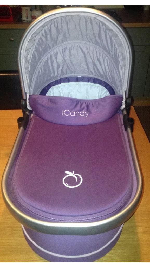 iCandy Peach All-Terrain/Jogger Carrycot - Loganberry