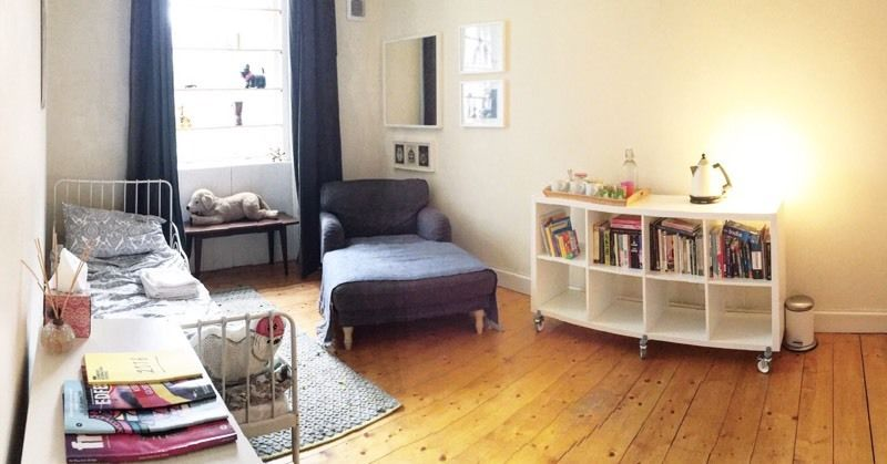 Room to let in homely garden flat for 6 months - Leith/Trinity