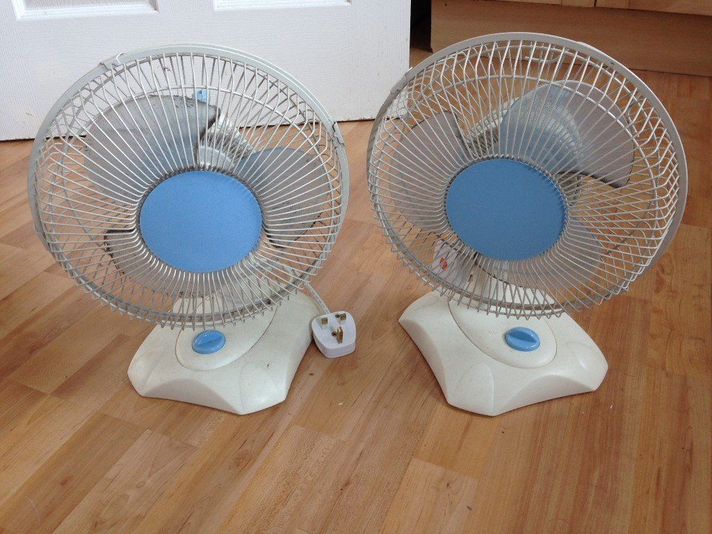 Two White Fans