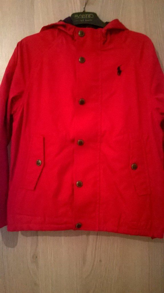 boys age 7 polo ralph lauren red light weight windbreaker jacket. excellent condition.