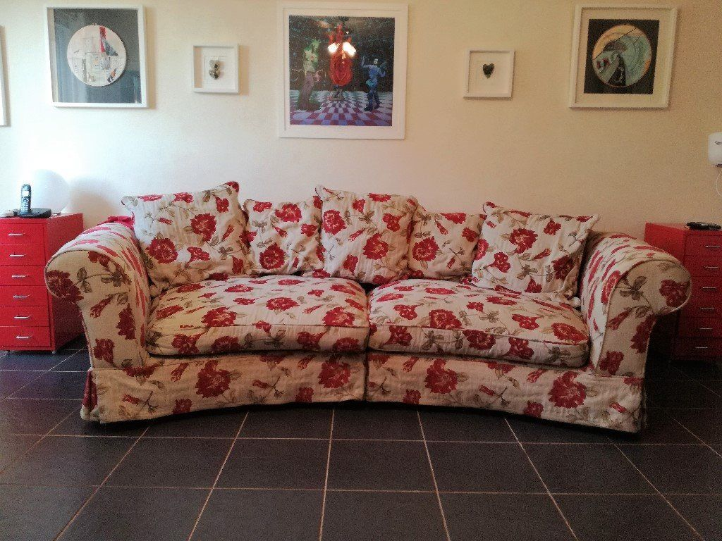 3-4 seater sofa, footstool and armchair to good home