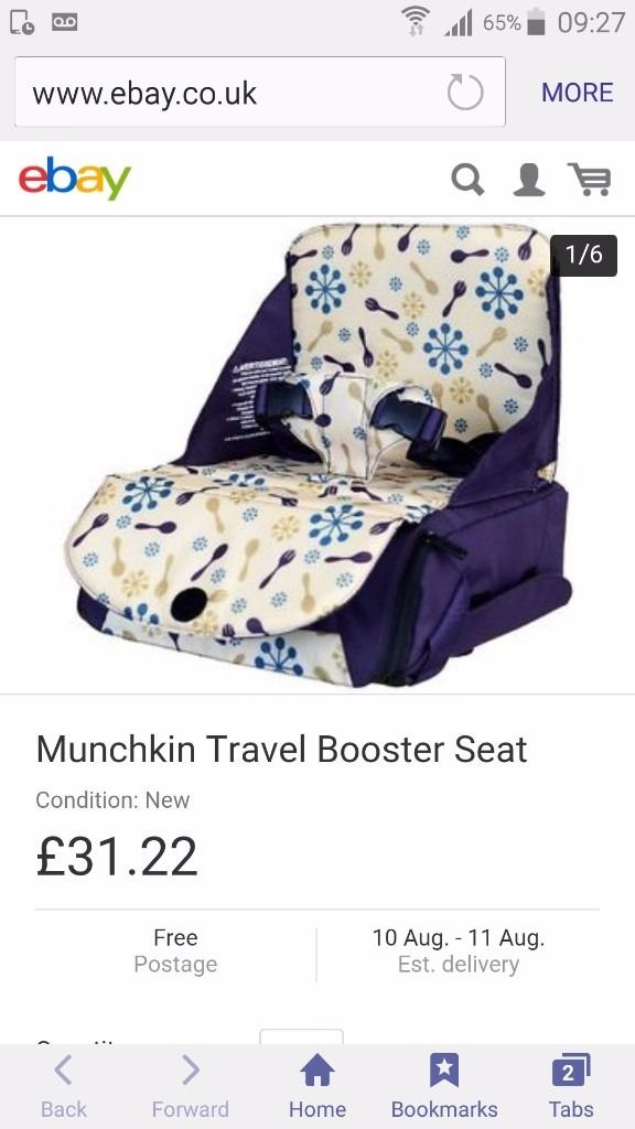 New unused munchkin travel booster seat
