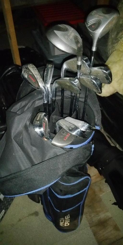 Pro Drive Complete Golf Set including Gold Bag