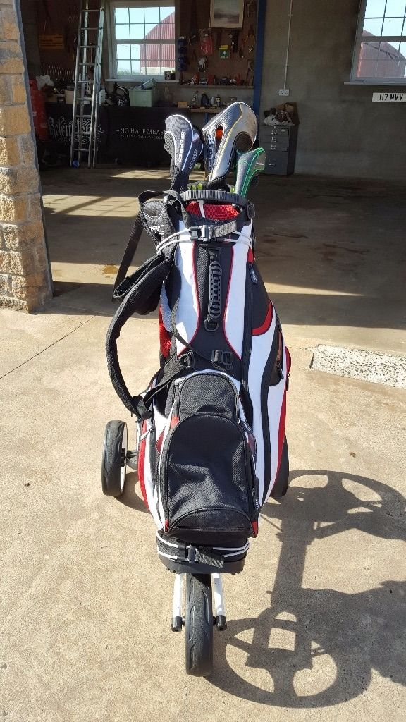 Golf set, bag and trolly