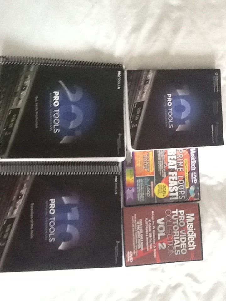 Pro Tools Sound Engineers course book x 2.